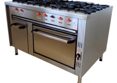 SC593S COOKING RANGE WITH GAS OVEN AND PLATE WARMER